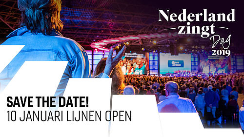 Save the Date Nederland Zingt Dag 2019